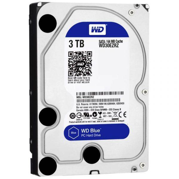 Накопичувач HDD SATA 3.0TB WD Blue 5400rpm 64MB (WD30EZRZ) - купить в интернет-магазине Анклав