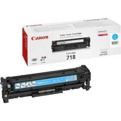 Картридж Canon 718 LBP-7200/MF-8330/8350/CLJ CP2025/CM2320 Cyan (2661B002) - купить в интернет-магазине Анклав