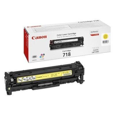 Картридж Canon 718 LBP-7200/MF-8330/8350/CLJ CP2025/CM2320 Yellow (2659B002) - купить в интернет-магазине Анклав