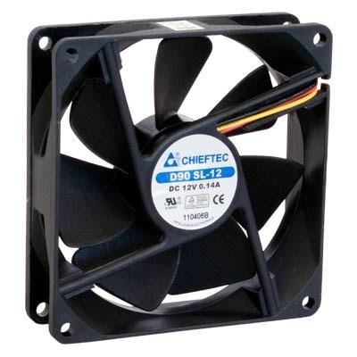 Вентилятор Chieftec Thermal Killer AF-0925S 90мм, 1800 об/мин, 3pin/Molex, 24dBa - купить в интернет-магазине Анклав
