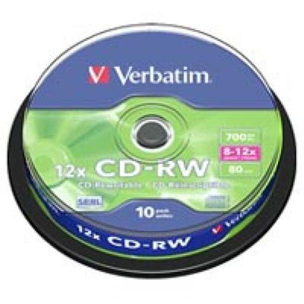 CD-RW Verbatim (43480) 700MB 12x Cake, 10шт - купить в интернет-магазине Анклав