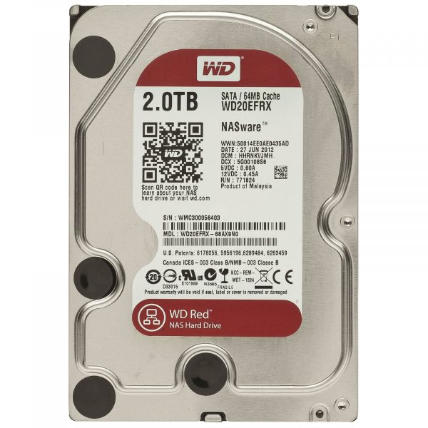 Накопичувач HDD SATA 2.0TB WD Red 5400rpm 64МB (WD20EFRX) - купить в интернет-магазине Анклав