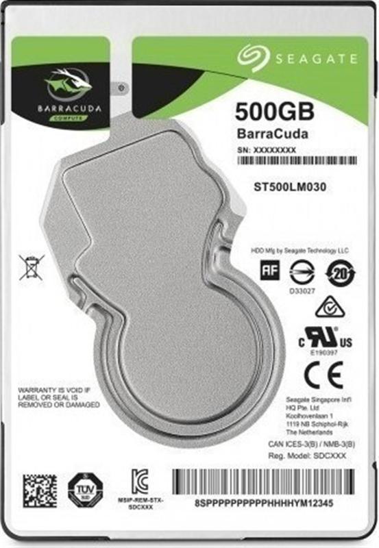 """HDD 2.5"""" SATA  500GB Seagate BarraCuda 5400rpm 128MB (ST500LM030) - купить в интернет-магазине Анклав"""