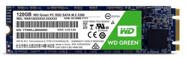Накопичувач SSD  120GB WD Green M.2 2280 SATAIII TLC (WDS120G2G0B) - купить в интернет-магазине Анклав