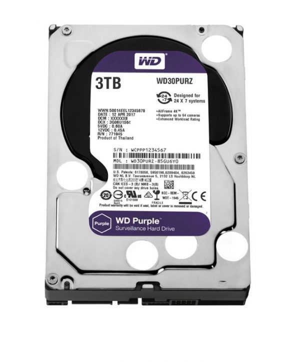 Накопичувач HDD SATA 3.0TB WD Purple 5400rpm 64MB (WD30PURZ) - купить в интернет-магазине Анклав