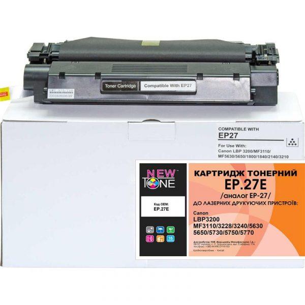 Картридж NewTone (EP.27E) Canon LBP-3200/MF3110 Black (аналог Canon EP-27) - купить в интернет-магазине Анклав