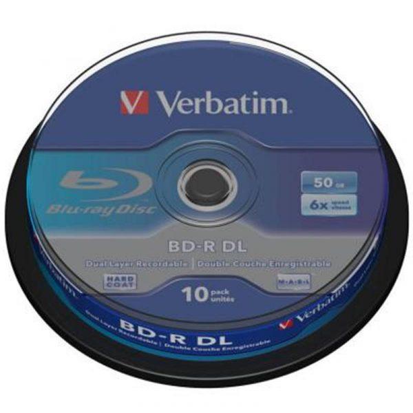 BD-R Verbatim (43746) DL 50GB 6x, 10 шт Pack Spindle - купить в интернет-магазине Анклав