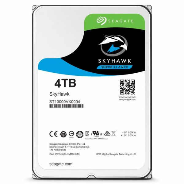 Накопичувач HDD SATA 4.0TB Seagate SkyHawk Surveillance 64MB (ST4000VX007) - купить в интернет-магазине Анклав