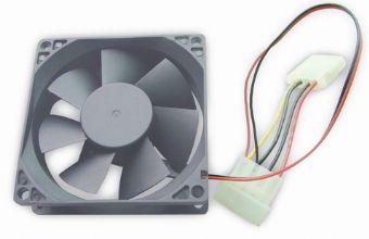 Вентилятор Gembird 80х80х25мм Sleeve 4pin (FANCASE-4) - купить в интернет-магазине Анклав