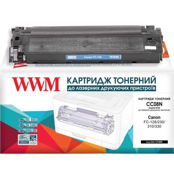 Картридж WWM (CC08N) Canon FC-108/128/20/230/310/530 (аналог Canon E16/E30) - купить в интернет-магазине Анклав