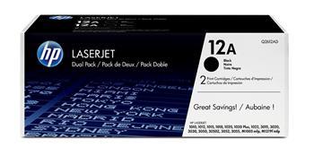 Картридж HP 12A LJ 1010/1012/1015/1020/1022 Dual Pack (Q2612AF) - купить в интернет-магазине Анклав