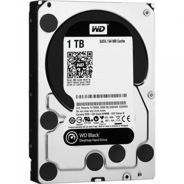 HDD SATA 1.0TB WD Black 7200rpm 64MB (WD1003FZEX) гар. 12 мес. - купить в интернет-магазине Анклав