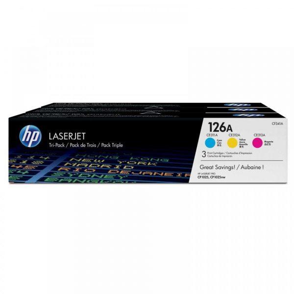Комплект картриджей HP 126A CLP 1025/1025NW (CE311A, CE312A, CE313A), CYM (CF341A) - купить в интернет-магазине Анклав