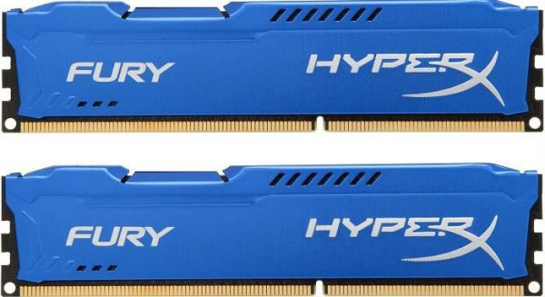 Модуль памяти DDR3 2x4GB/1600 Kingston HyperX Fury Blue (HX316C10FK2/8) - купить в интернет-магазине Анклав
