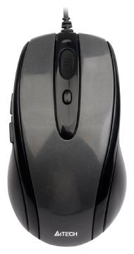 Мишка A4 N-708X-1 Glossy grey USB V-Track - купить в интернет-магазине Анклав