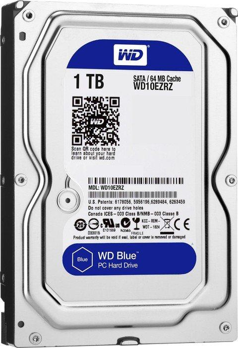 Накопичувач HDD SATA 1.0TB WD Blue 5400rpm 64MB (WD10EZRZ) - купить в интернет-магазине Анклав