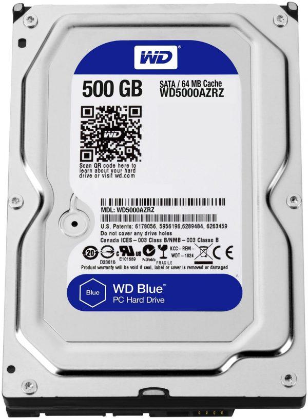 Накопичувач HDD SATA  500GB WD Blue 5400rpm 64МB (WD5000AZRZ) - купить в интернет-магазине Анклав