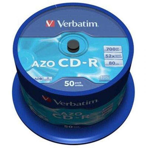 Диски CD-R Verbatim (43343) 700MB 52x Cake, 50шт Crystal - купить в интернет-магазине Анклав