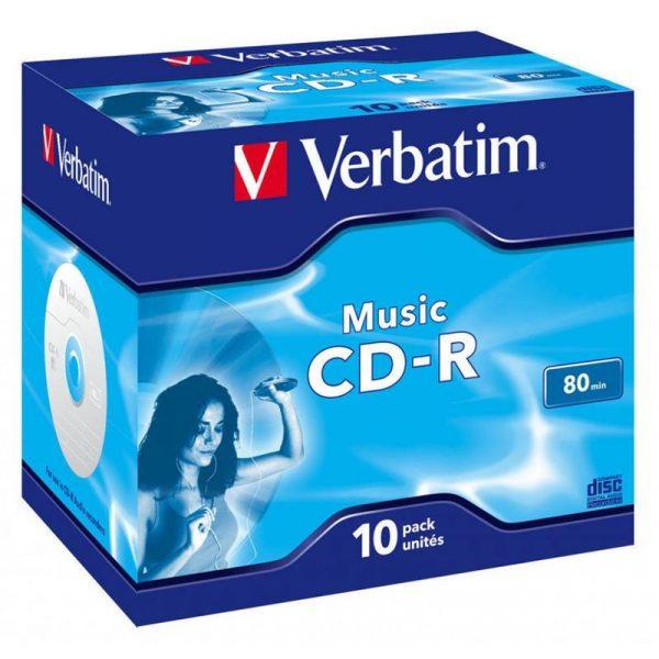 Диски CD-R Verbatim (43365) 700MB 16x Audio Live it Jewel, 10шт - купить в интернет-магазине Анклав