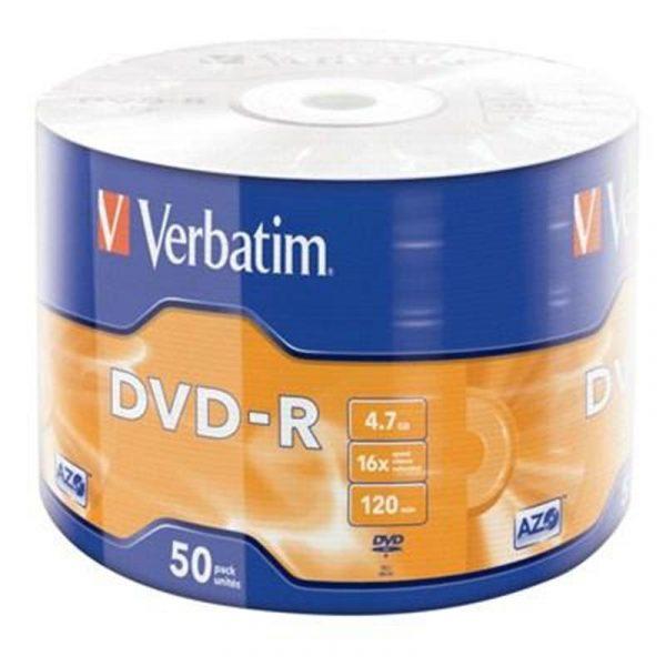 Диски DVD-R Verbatim (43788) 4.7GB 16x Wrap, 50шт - купить в интернет-магазине Анклав