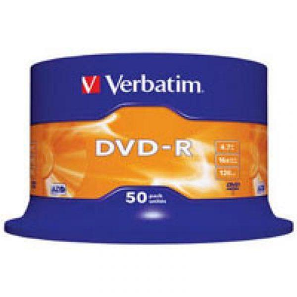 Диски DVD-R 4.7GB VERBATIM  Cake Box (43548) 16x, 50шт - купить в интернет-магазине Анклав