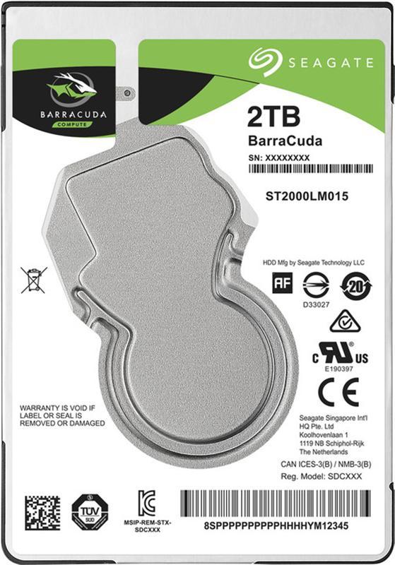 "Накопичувач HDD 2.5"" SATA 2.0TB Seagate BarraCuda 5400rpm 128MB (ST2000LM015) - купить в интернет-магазине Анклав"