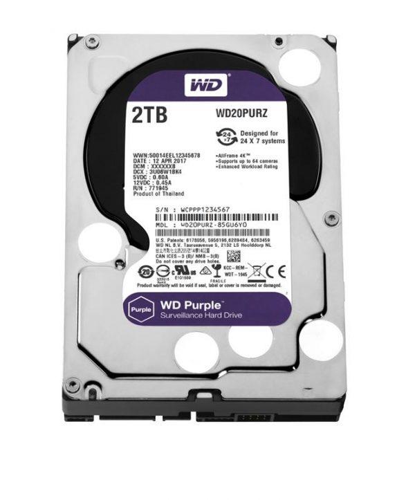 Накопичувач  HDD SATA 2.0TB WD Purple 5400rpm 64MB (WD20PURZ) - купить в интернет-магазине Анклав