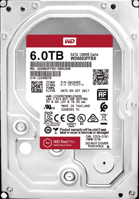 Накопичувач HDD SATA 6.0TB WD Red Pro NAS 7200rpm 256MB (WD6003FFBX) - купить в интернет-магазине Анклав