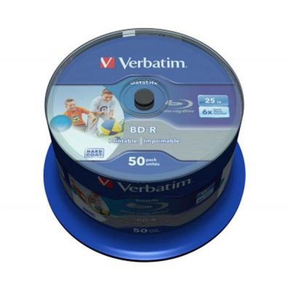 BD-R Verbatim (43812) 25Gb 6X Wide Inkjet Printable 50 шт. Spindle - купить в интернет-магазине Анклав