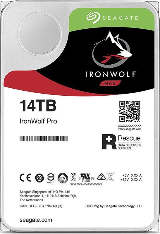 HDD SATA 14.0TB Seagate IronWolf Pro NAS 7200rpm 256MB (ST14000NE0008) - купить в интернет-магазине Анклав