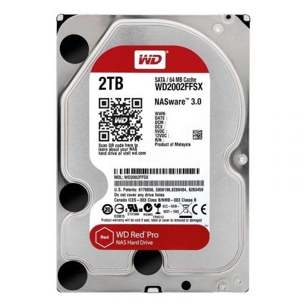 Накопичувач HDD SATA 2.0TB WD Red Pro NAS 7200rpm 64MB (WD2002FFSX) - купить в интернет-магазине Анклав