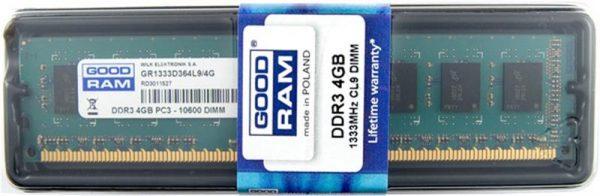 Модуль памяти DDR3 4GB/1333 GOODRAM (GR1333D364L9S/4G) - купить в интернет-магазине Анклав