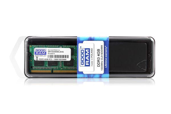 Модуль памяти  SO-DIMM 4GB/1333 DDR3 GOODRAM (GR1333S364L9S/4G) - купить в интернет-магазине Анклав