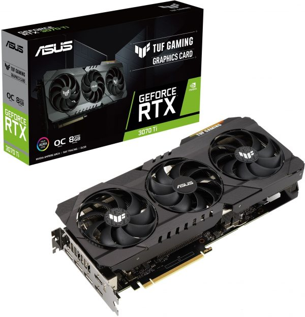 GeForce RTX 3070 Ti TUF GAMING OC, 8Gb GDDR6X (TUF-RTX3070TI-O8G-GAMING) - купить в интернет-магазине Анклав